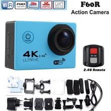 Original versión Mejorada F60/F60R go pro estilo Ultra HD 4 k Cámara de Acción Wifi 2.0 pantalla 170 de Ancho Lente de la cámara impermeable de la Acción cam