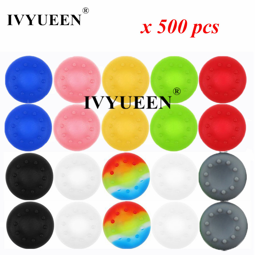 IVYUEEN 500 pcs Analog Thumb Stick Grip for Dualshock 4 PS4 Pro Slim for PS3 for