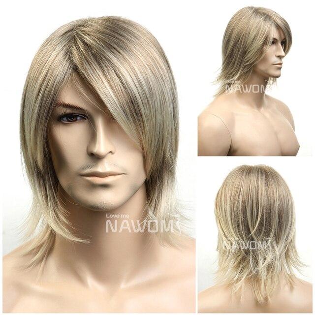 hot blonde men hair wigs blonde short wigs for artistic men natural looking  men hair wigs c8711edbfded
