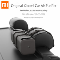 Original Xiaomi Double Fans Car Air Cleaner Ionizer Air Freshener Auto Mist Maker PM 2.5 Cleaning Automobile Air Cleaner