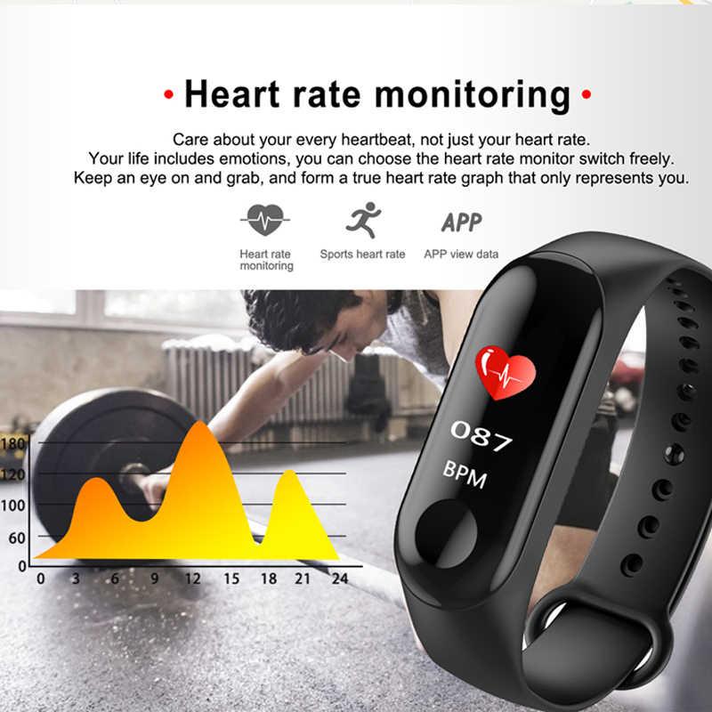 M3 سوار ذكي ضغط الدم Spo2 مراقب معدل ضربات القلب متتبع النشاط البدني للرجال النساء الاطفال ساعة PK mi الفرقة 3