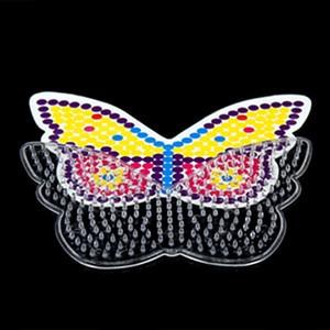 Image 2 - 10 шт. шаблоны для бусин 5 мм perler, термомозаичные узоры для бусин hama, шаблон для бусин perler из бумаги с цветной бумагой