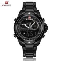 NAVIFORCE Top Luxury Brand Men Watches Digital Sport Watch Classy Business Full Steel Watches Dual Display Fashion Casual Saat