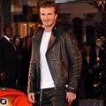 Мужской подлинной кожаная одежда стенд воротник молния мотоциклетная куртка осенью и зимой мужской всадника куртки