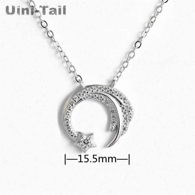 Uini-tail nowy oryginalny 925 sterling silver slip spadające meteor mikro-inkrustowane naszyjnik Meteor ogród moda trend biżuteria GN698
