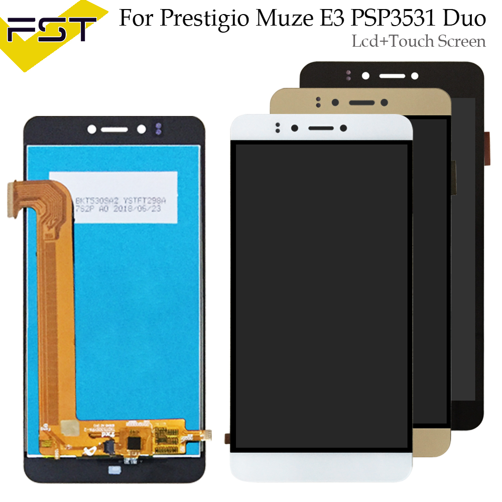Para Prestigio Muze E3 PSP3531Duo PSP3531 D3 PSP3530 PSP 3531 PSP 3530 F3 PSP3532 pantalla LCD con pantalla táctil digitalizador