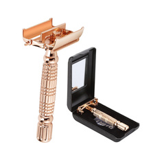 Unscrew The Two-Sided Shaver Rose Gold Vintage Manual Razor Waterproof Alloy Top Quality Safety Razor For Men
