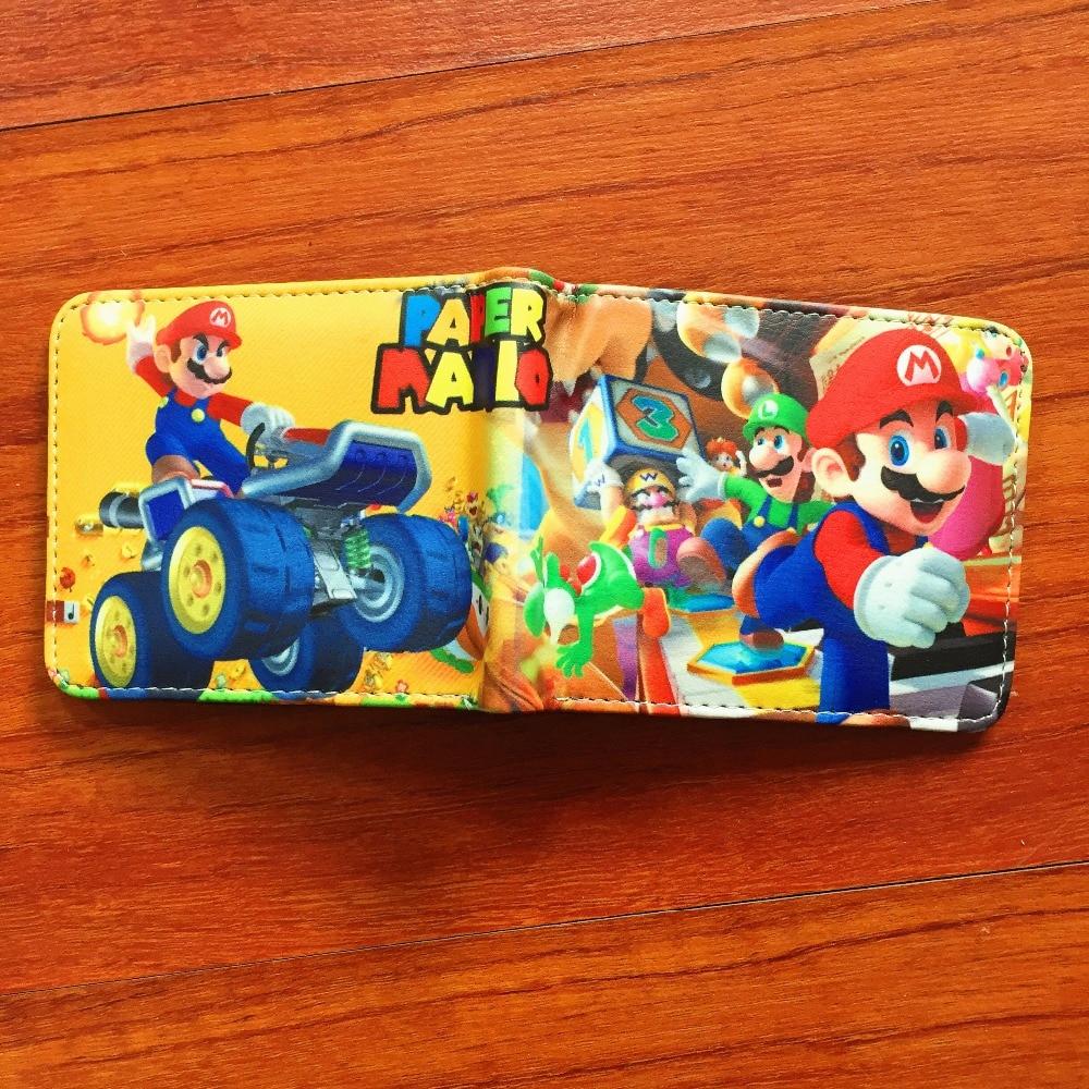 New arrivel Cartoon Super Mario Wallet Women Men Casual Short Wallet slim purse Card Holder Teenagers Money Cash Bag W613