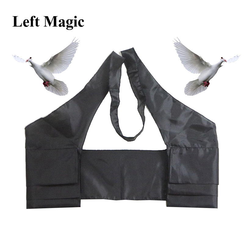 Dove Vest ( 6 Pockets Vest ) Magic Trick Vest To Dove Close Up Stage Props Apperring Dove Gimmick Comedy Perfession Accessary image