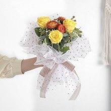 Оберточная бумага для цветов, водонепроницаемое бумажное украшение для свадьбы, нетканый букет цветов, товары внутри, бумага для подкладки, 10 листов