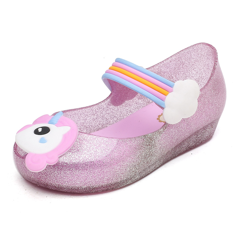 Mini Melissa Brazil Unicorn Cute Girls Jelly Sandals 2018 Summer Children Shoes Baby Princess Melissa Sandals 11.8-18.8cm