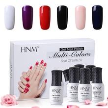 Buy nail art kit box and get free shipping on aliexpress hnm 6pcsset varnish semi permanent solid gelpolish diy nail art kit 8ml uv gel prinsesfo Image collections