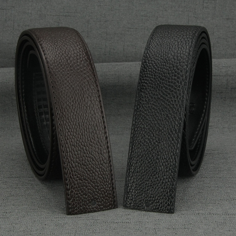 Belt men without buckle designer fashion high quality genuine leather 3.5cm Waist Strap Casual Automatic Buckle ceinture homme