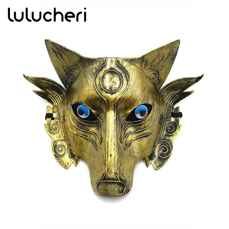 Scary Gray Wolf Head Masks Realistic Halloween Adult Latex Mask Animal Werewolf Cosplay Props Party Fancy Dress Party Decoration