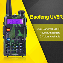 Portable Radio Set BaoFeng BF UV-5R Dual Band VHF/UHF136-174Mhz&400-520Mhz Walkie-Talkie 10KM Amateur Two Way Radio Comunicador