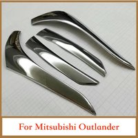 Accessories For Mitsubishi Outlander 2016 2017 ABS Chrome Tail Lights Brow Rear Lamp Eyebrows Strip Covers Trim Car Styling 4pcs