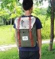Ataque a titan mochila ombros saco de escola saco de anime homens impressão mochila mochila saco de viagem das mulheres