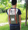 Attack on titan mochila escolar mochila hombros bolsa anime impresión mochila mujeres de los hombres mochila bolsa de viaje