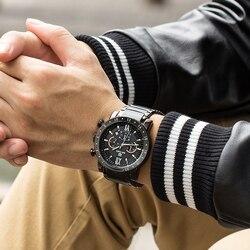 MEGIR mody luksusowej marki zegarek kwarcowy mężczyzn ze stali nierdzewnej zegarki sportowe męskie zegarki wodoodporne zegar Relogio Masculino