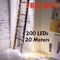 20 м 200 светодиодная серебряная проволока Фея огни строки батарея работать USB для праздничного Новогодняя вечеринка, праздник свадебные