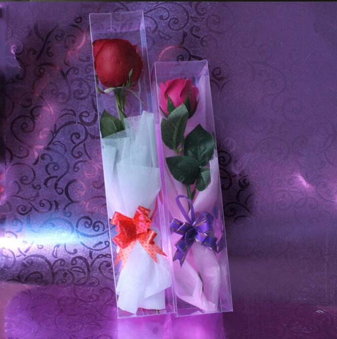 Transparent Packaging PVC Box Special Packing for Roses Toy Display Box Wedding Party Flowers Package Gift Box 1