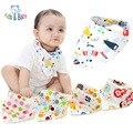 Baby & Kids Camadas Duplas de Algodão Bibs Do Bebê 1 Pcs Bebê Recém-nascido Meninas Meninos Infantil Lenço Dos Desenhos Animados de Animais Bibs Bandana arroto Panos de Bebes