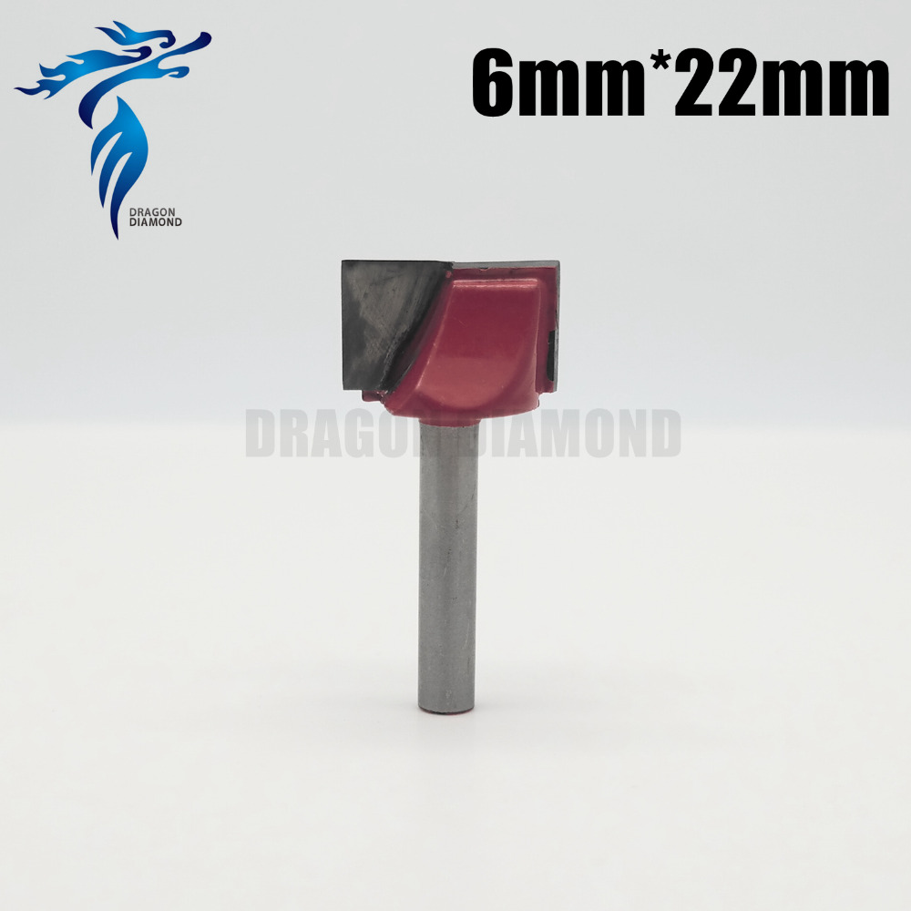 6*22mm CNC Cleaning bottom router bit 3D woodworking Tungsten milling cutter Disposable cutting surface smooth without burr high grade carbide alloy 1 2 shank 2 1 4 dia bottom cleaning router bit woodworking milling cutter for mdf wood 55mm mayitr