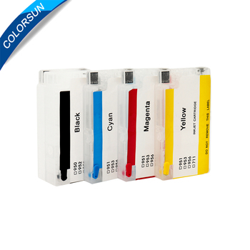 Colorsun Refillable Ink cartridge for HP950 951xl 950 951 for HP Officejet Pro 8100 8600 8610 8620 8630 8660 8615 8625 251dw original cm751 80013a 950 951 950xl 951xl printhead print head for hp pro 8100 8600 8610 8620 8625 8630 8700 251dw 251 276 276dw