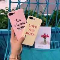 Fashion Letter Pattern Back Cover Hard Plastic Case For iphone 5 5S SE 6 6S Plus 7 7 Plus