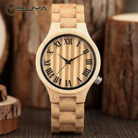 Luxury Wood Watches Men Watch Vintage Roman Number Clock Men Women Casual Quartz Wooden Wrist Watch