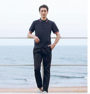 Image 3 - Xiaomi 90 点古典的なファッションラペルシャツクールと絹のようなパッチワークリブ男性半袖高数量ポロ男性