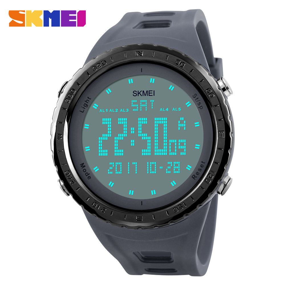 Men Sports Watches SKMEI Fashion Outdoor LED Digital Sports Military Watch Male Clock Mens Dress Wristwatches