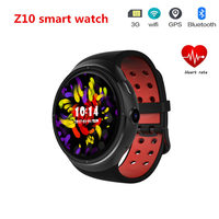 Smart Watch 3G WiFi 1GB/16GB Wristwatch Android GPS Z10 Heart Rate Monitor Support SIM Card Amoled Round Screen For iOS Android