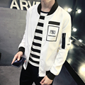 2017 new  jacket men casual men jacket spring plus size casual loose print  zipper baseball jacket men outwear