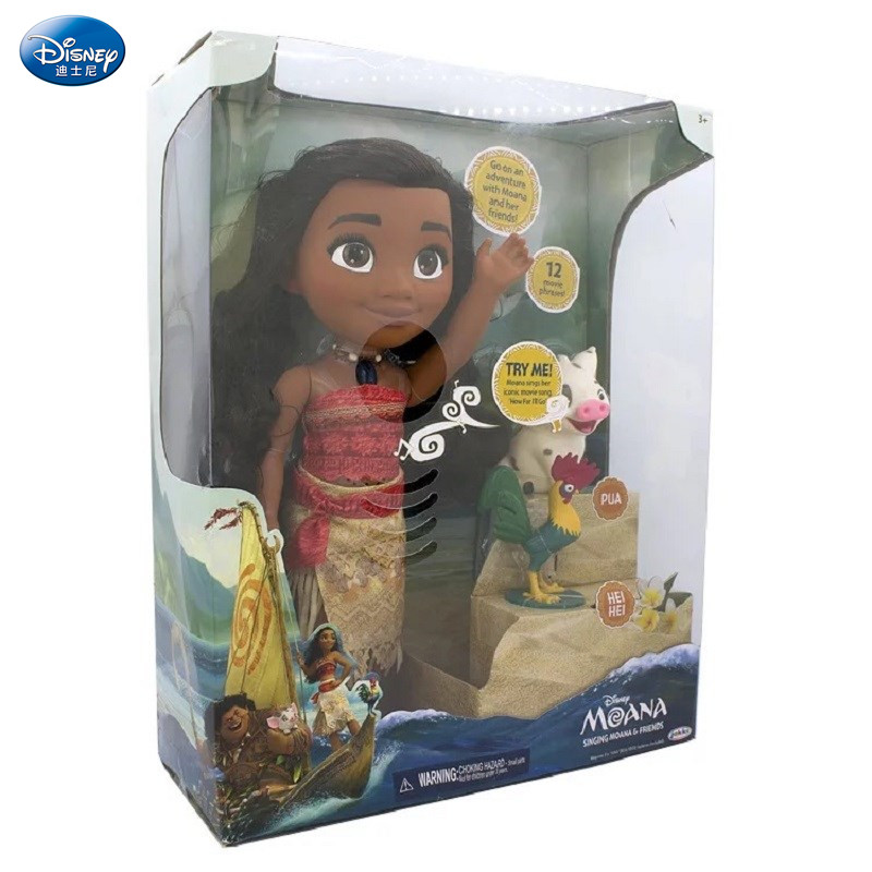 Disney Movie Moana Waialiki Maui Heihei Dolls Model With Music Action Figures Kids Lover Christmas Gift Children Toys