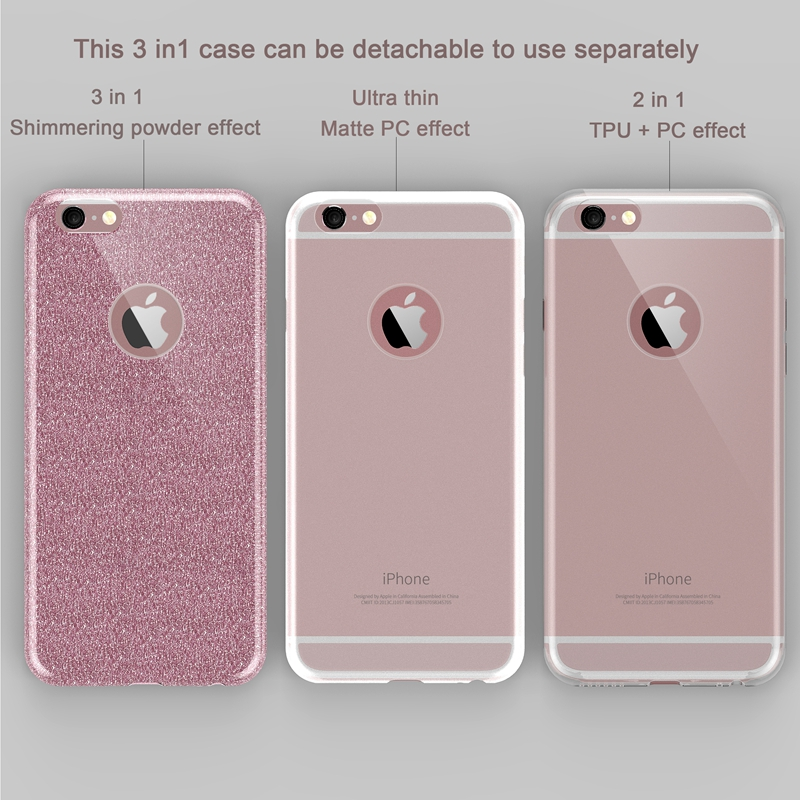 0416d0cfb35c99 For Iphone SE Case Luxury Bling Glitter Cover For Iphone 5 5S SE  Transparent Soft Silicone ...