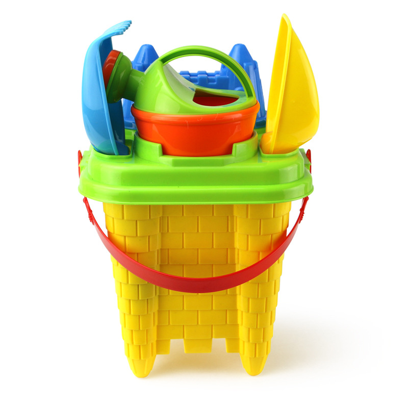 11-in-1 Beach Soft Plastic Sand Toys Set Castle Molds Bucket Shovels Watering Can Truck Children Magic Novelty Color Random Toys & Hobbies