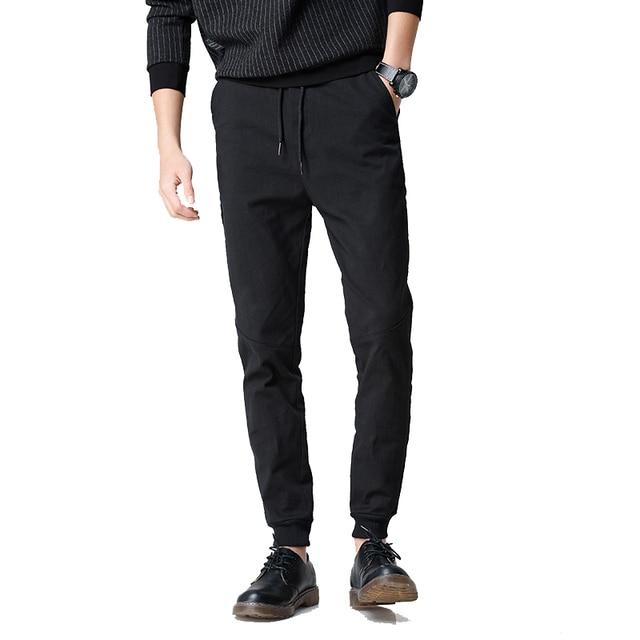 2017 весна мужские бегунов брюки сплошной цвет брюки тренировочные брюки черный цвет M-XXL CYG175
