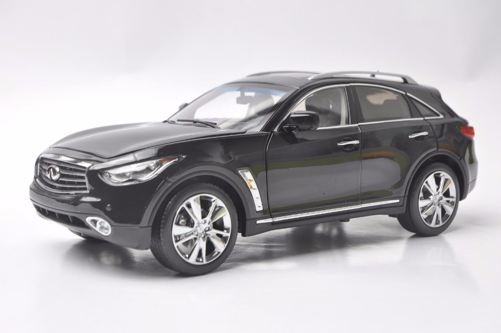 1:18 Diecast Model for Infiniti QX70 2014 Black SUV Alloy Toy Car Miniature Collection Gift FX50 FX 1 18 vw volkswagen teramont suv diecast metal suv car model toy gift hobby collection silver