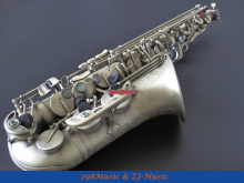 Antique Bronzy Eb Alto Saxophone High F# With-Black Pearl Buttons