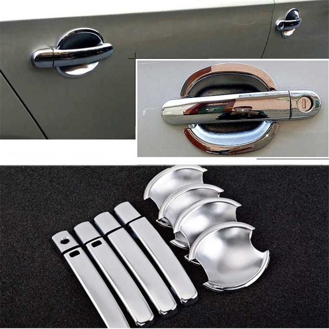 $ 20.99 Non-Rusty Chrome Door Handle Bowl Cover Cup Overlay Trim For Skoda Spaceback