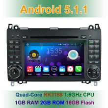 Quad core Android 5.1 CAR DVD Player for Benz Sprinter B200 Vito Viano W169 W245 W906 VW Crafter with Radio WIFI BT GPS