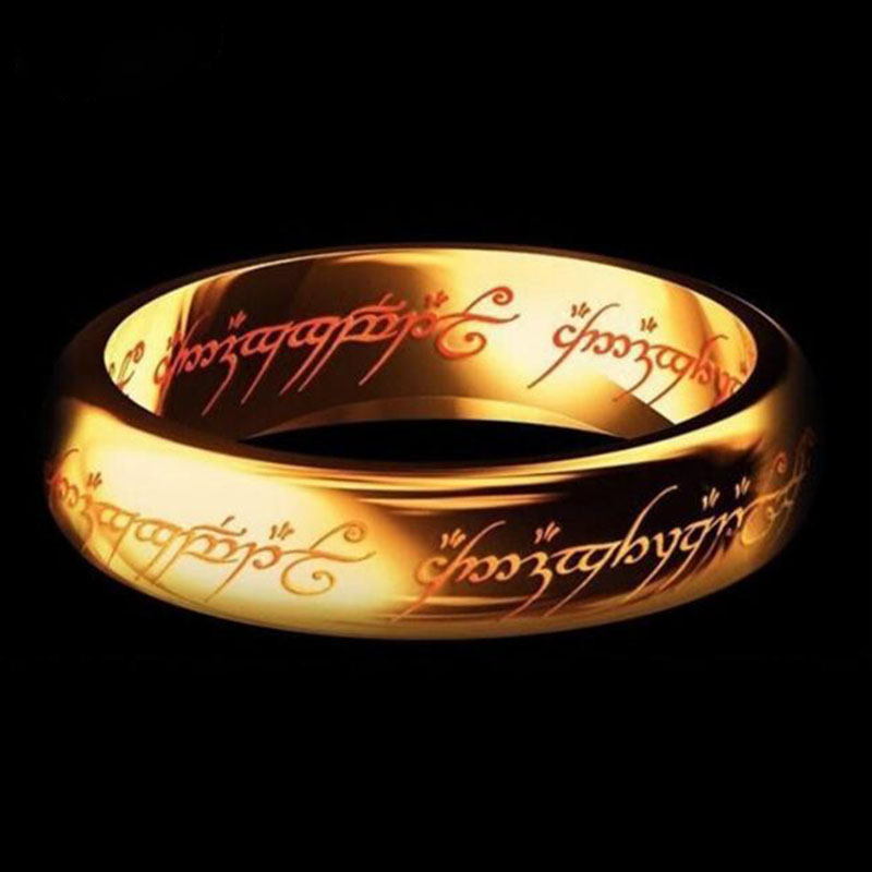 2018 New Stainless Steel One Ring of Power the Lord of One Ring Lovers Women Men Fashion Jewelry Wholesale Free Shipping