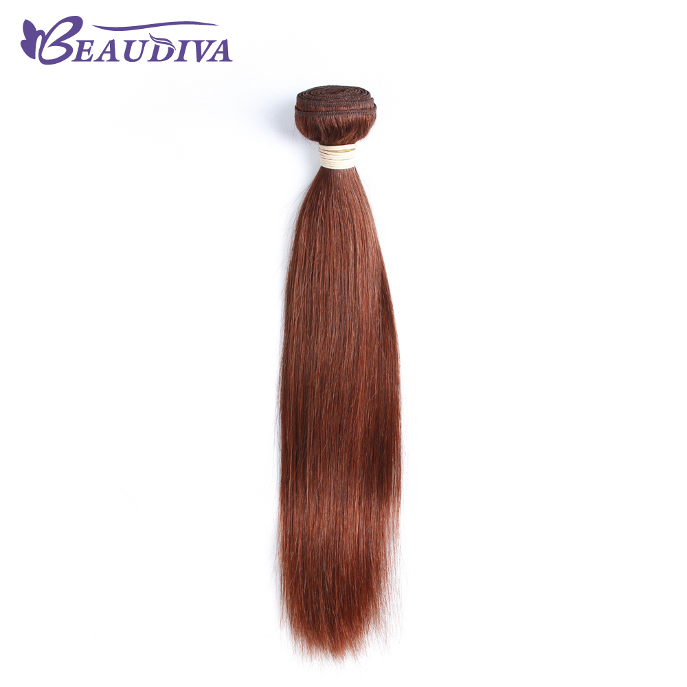 BEAUDIVA Straight 33 Pre-Colored Malaysia Human Hair No Shedding Colored Non-Remy Hair Weave 16 Inch