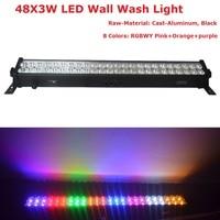 Najlepsza cena 2 jednostka 8 kolory Led do mycia ścian światła 48X3 W LED linia światła sceniczne 90  240 V z prowadzenie konia funkcja darmowa wysyłka w Oświetlenie sceniczne od Lampy i oświetlenie na