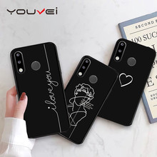 YOUVEI Case For Coque Huawei P30 P30 Pro Case Black Soft TPU