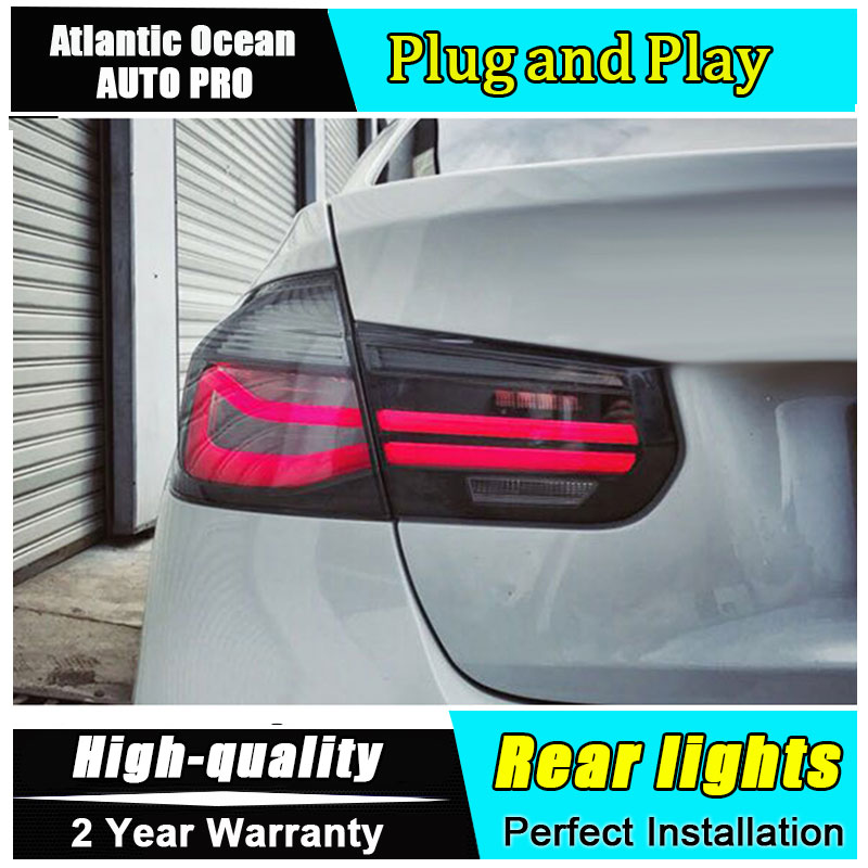 Car Styling 13-17 for BMW F35 F30 318i 318Li 320i Taillights Design for M3 LED Tail Lamp Rear Lamp Fog Light For 1Pair ,4PCS 2x red red lens rear bumper reflector warning light for bmw f30 f35 328i 320i 335i auto car styling 3099