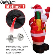 Inflatable Santa Claus Outdoors Decorations for Home Yard Garden Merry Christmas Welcome Arches