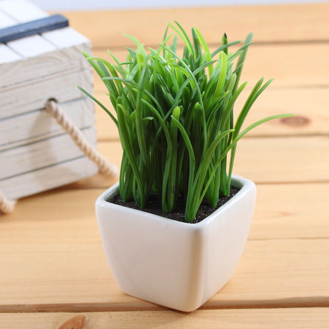 Artificial plants potted flowers spring grass white ceramic pots artificial plants potted flowers spring grass white ceramic pots shooting props home decoration mightylinksfo Image collections