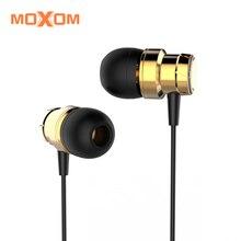 MOXOM Super Bass Fones de ouvido de 3.55mm Fone De Ouvido Com Controle de Volume Mic Para o iphone, Samsung, Xiaomi, Huawei